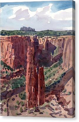 Spider Rock Overlook Canvas Print by Donald Maier