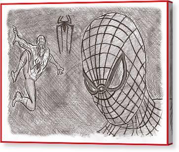 Spiderman Canvas Print by Chris DelVecchio