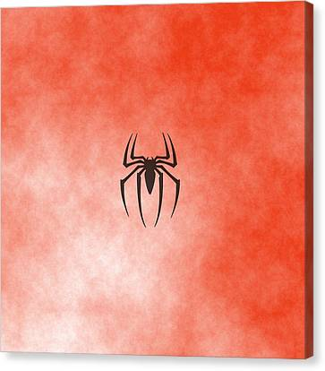 Spiderman Logo Canvas Print by Comic Memories