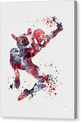 Comic Book Canvas Print - Spidey by Rebecca Jenkins