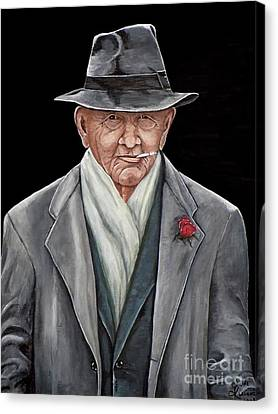 Spiffy Old Man Canvas Print by Judy Kirouac