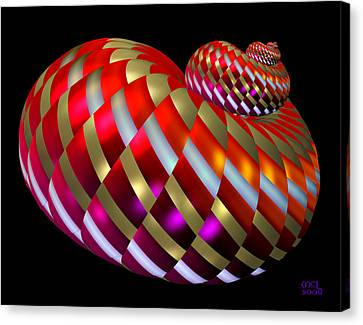 Canvas Print featuring the digital art Spin-orbit Interaction by Manny Lorenzo