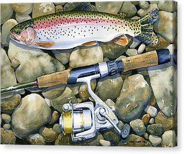 Spin Trout Canvas Print by Mark Jennings