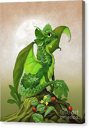 Spinach Dragon Canvas Print by Stanley Morrison