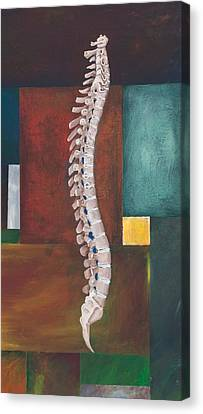 Health Canvas Print - Spinal Column by Sara Young
