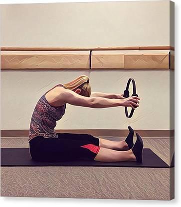 Spine Stretch Forward Canvas Print by Julie A Schonfeld