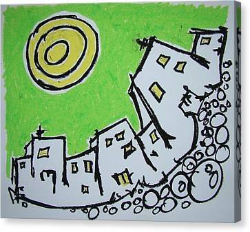 Spinning City Canvas Print by Pat  Lackenbauer