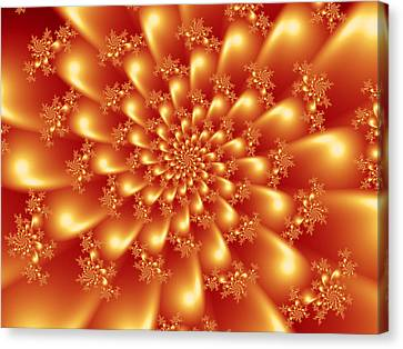 Spinning Gold Canvas Print