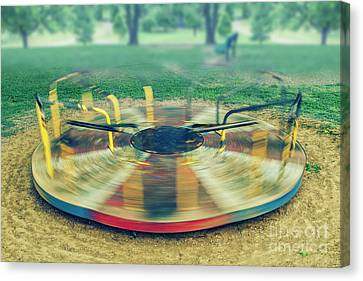 Spinning  Canvas Print by Larry Braun