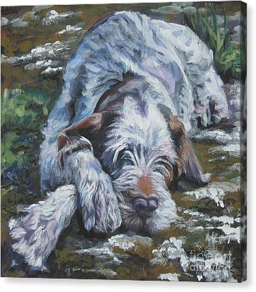Spinone Canvas Print - Spinone Italiano by Lee Ann Shepard