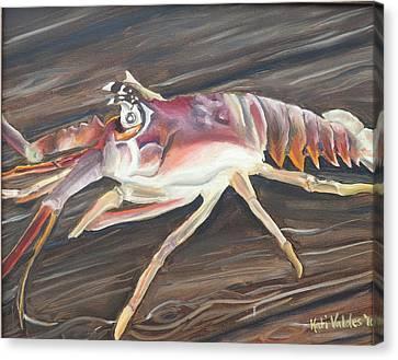 Spiny Lobster Canvas Print by Katiana Valdes
