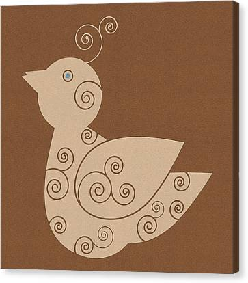 Brown Tones Canvas Print - Spiral Bird by Frank Tschakert