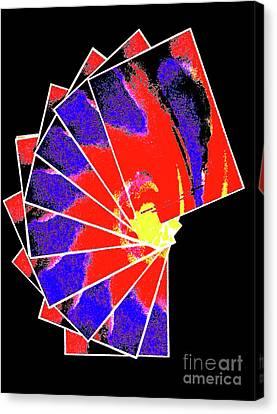Spiral Cards 1d Canvas Print by Ken Lerner