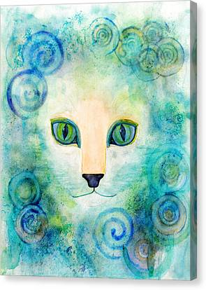 Spiral Cat Series - Wind Canvas Print