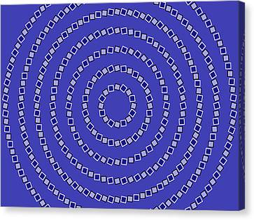 Spiral Circles Canvas Print by Michael Tompsett