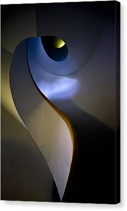 Spiral Concrete Modern Staircase Canvas Print by Jaroslaw Blaminsky