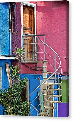 Canvas Print featuring the photograph Spiral Entry by Kim Wilson
