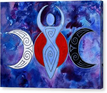 Spiral Goddess Canvas Print by Sue Redding