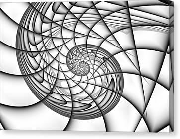 Spiral In Monochrome Canvas Print