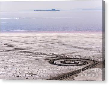 Spiral Jetty - Great Salt Lake - Utah Canvas Print by Gary Whitton
