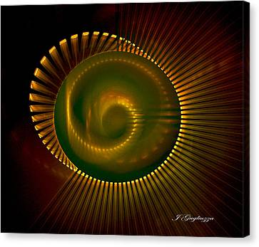 Spiral Light Canvas Print by Jean Gugliuzza