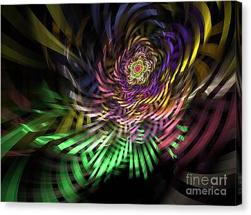 Generative Canvas Print - Spiral Rainbow by Deborah Benoit