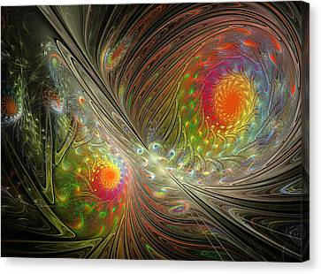 Spiral Space Canvas Print by Mary Raven