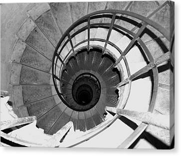 Canvas Print featuring the photograph Spiral Staircase At The Arc by Donna Corless