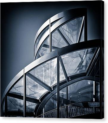 Metal Canvas Print - Spiral Staircase by Dave Bowman