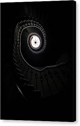Spiral Staircase In An Old Mansion Canvas Print by Jaroslaw Blaminsky