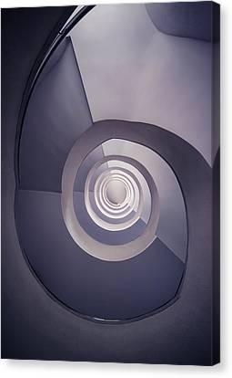 Spiral Staircase In Plum Tones Canvas Print by Jaroslaw Blaminsky