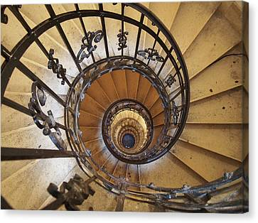 Spiral Staircase - St Stephens - Budapest  Canvas Print by Philip Openshaw
