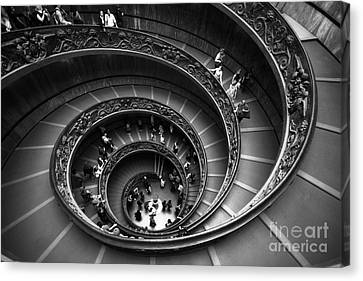 Spiral Stairs Horizontal Canvas Print by Stefano Senise