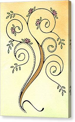 Spiral Tree Canvas Print by Nora Blansett