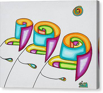 Spiral Triplets Canvas Print by            Gillustrator