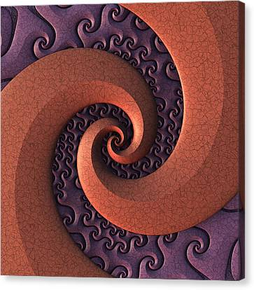 Canvas Print featuring the digital art Spiralicious by Lyle Hatch