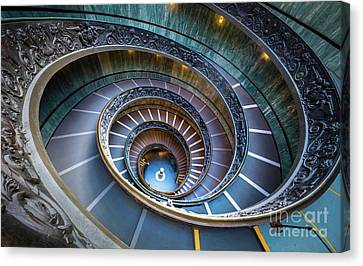 Spiraling Down Canvas Print by Inge Johnsson