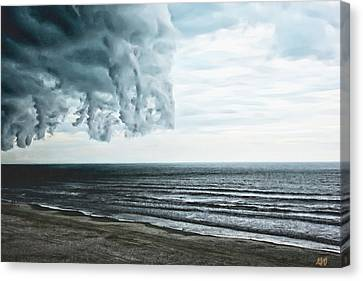 Spiraling Storm Clouds Over Daytona Beach, Florida Canvas Print
