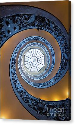Spiral Staircase Canvas Print - Spiraling Towards The Light by Inge Johnsson