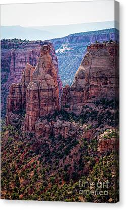 Spires And Mesa Country Canvas Print by Jon Burch Photography