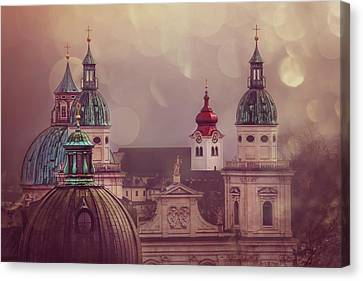 Spires Of Salzburg  Canvas Print by Carol Japp