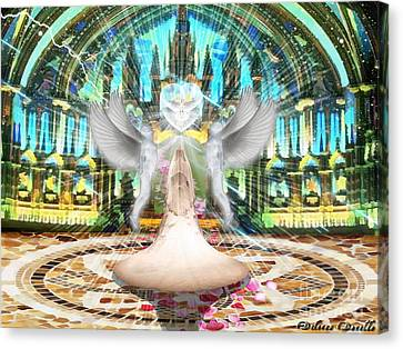 Spirit And The Bride Canvas Print