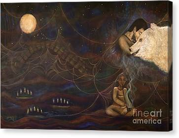 Spirit Bear Canvas Print by Deborha Kerr