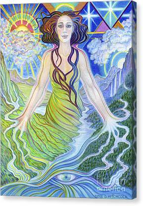 Spirit Guide Reyanne Canvas Print by Debra A Hitchcock