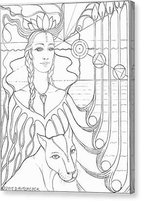 Spirit Guide Selmutee The Lemurian Canvas Print by Debra A Hitchcock