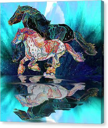 Gypsy Canvas Print - Spirit Horse II Leopard Gypsy Vanner Blue Ice by Michele Avanti