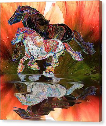 Spirit Horse II Leopard Gypsy Vanner Canvas Print by Michele Avanti