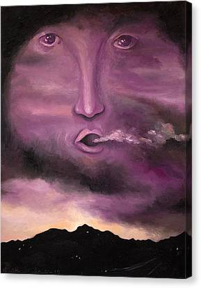 Spirit In The Clouds Canvas Print by Leah Saulnier The Painting Maniac