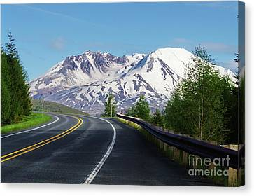 Spirit Lake Highway To Mt. St. Helens Canvas Print