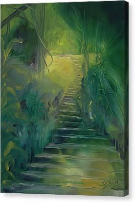 Spirit Of The Amazon Canvas Print by Zoe Landria